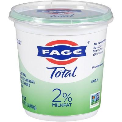 FAGE Total 2% Milkfat Plain Greek Yogurt - 35.3oz