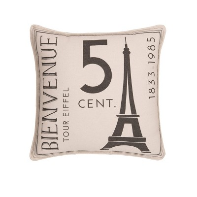 """C&F Home 18"""" x 18"""" From Paris With Love Pillow"""