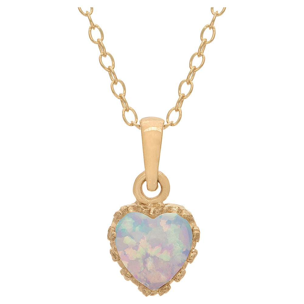 3/4 Tcw Tiara Opal Crown Pendant in Gold Over Silver