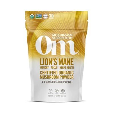 Om Mushrooms Lion's Blend Superfood Powder - 2.11oz