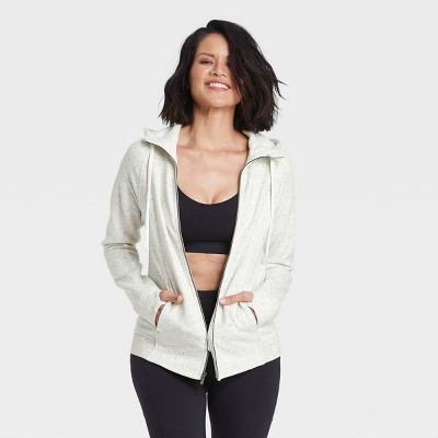 Women's Fleece Full Zip Hooded Sweatshirt - All in Motion™