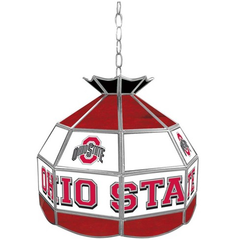"NCAA Ohio State Buckeyes Glass Tiffany Lamp - 16"" - image 1 of 1"