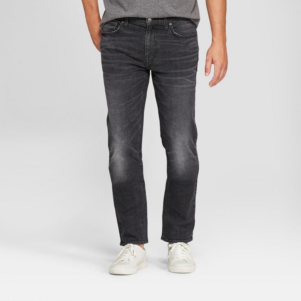 Men's Slim Fit Denim - Goodfellow & Co Washed Black 40x34