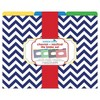 "Barker Creek File Folders, Multi Design, 9.5"" x 12"", 12ct - Chevron Nautical - image 2 of 4"
