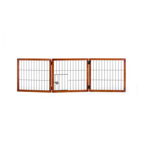 9067109a75e Carlson 3 Panel Freestanding Wood Cat And Dog Gate With Small Door   Target