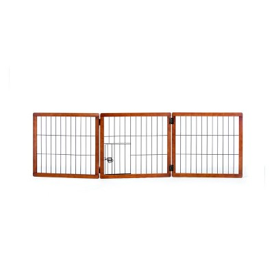 Carlson 3 Panel Freestanding Wood Cat And Dog Gate With Small Door : Target