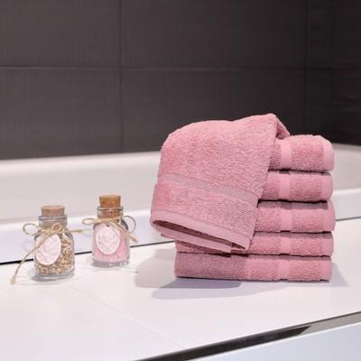 6pk Denzi Turkish Bath Washcloths Tea Rose - Linum Home Textiles