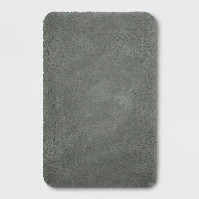 37 x23  Performance Nylon Bath Rug Dark Gray - Threshold™