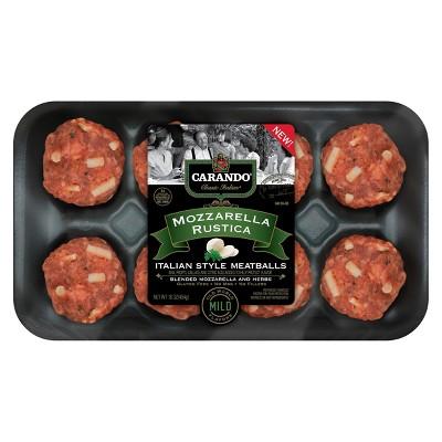 Carando Mozzarella Rustica Meatball - 16oz