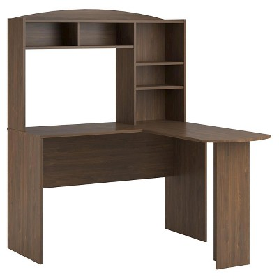 Danford Wood L Shaped Computer Desk with Hutch - Room & Joy