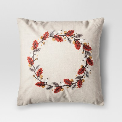 Cream Wreath Throw Pillow - Threshold™
