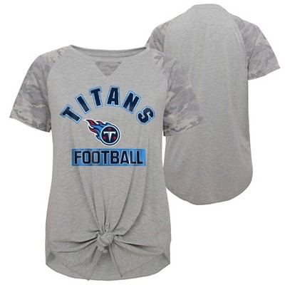 NFL Tennessee Titans Women's Short Sleeve Front Knot T-Shirt