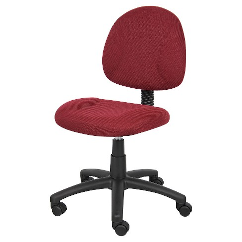 Deluxe Posture Chair Burgundy - Boss Office Products - image 1 of 4