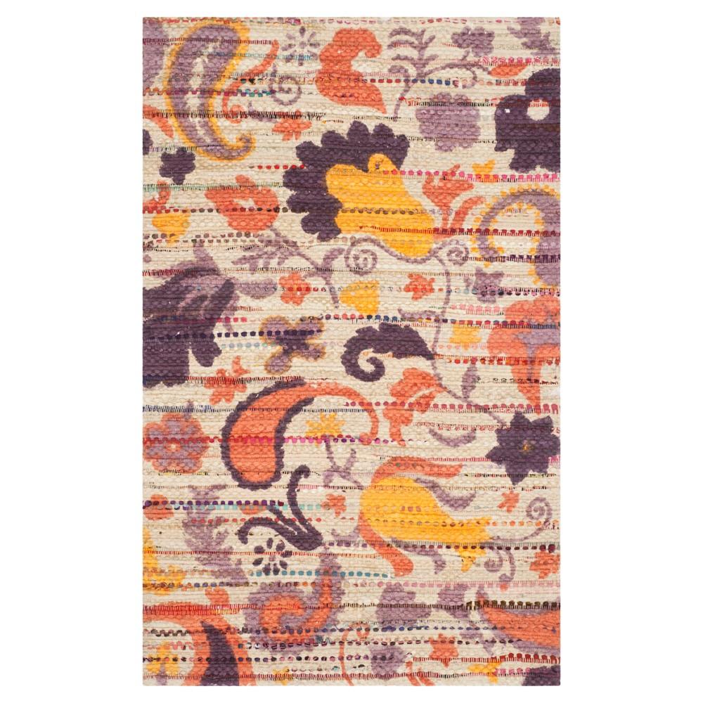 Cedar Brook Rug - Orange- (4'x6') - Safavieh, Orange/Beige