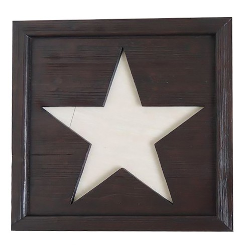 Wall Decor- Square with Star Cutout  - Home Source - image 1 of 1