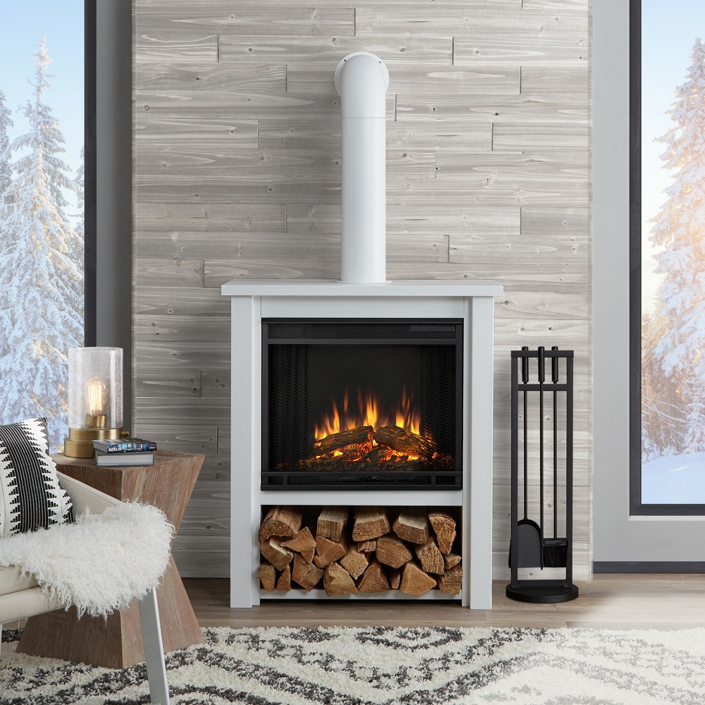 Real Flame Hollis Indoor Electric Fireplace - Matte White