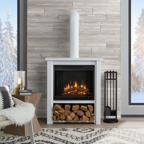 Real Flame Hollis Indoor Electric Fireplace Matte White Target