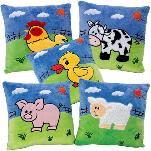 Kaplan Early Learning Company Farm Animal Pillows Set Of 5 Target