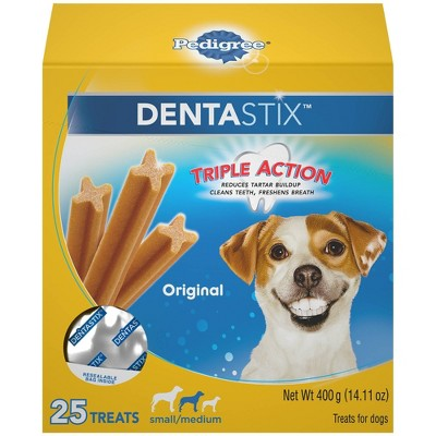 Pedigree Dentastix Original Small Medium Chicken Dental Dog Treats - 25ct