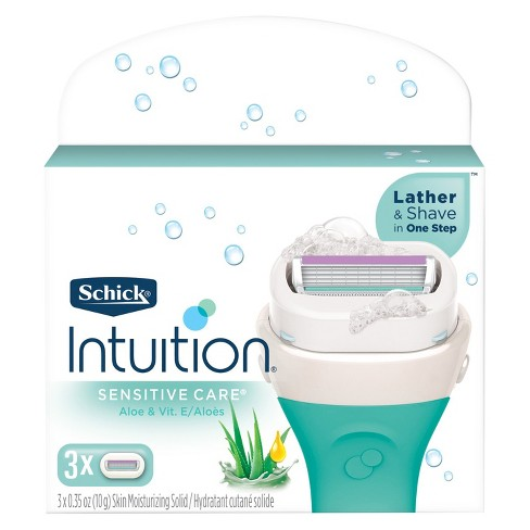 Schick Intuition Sensitive Care With Natural Aloe Women's Razor Blade Refills - 3 ct - image 1 of 3