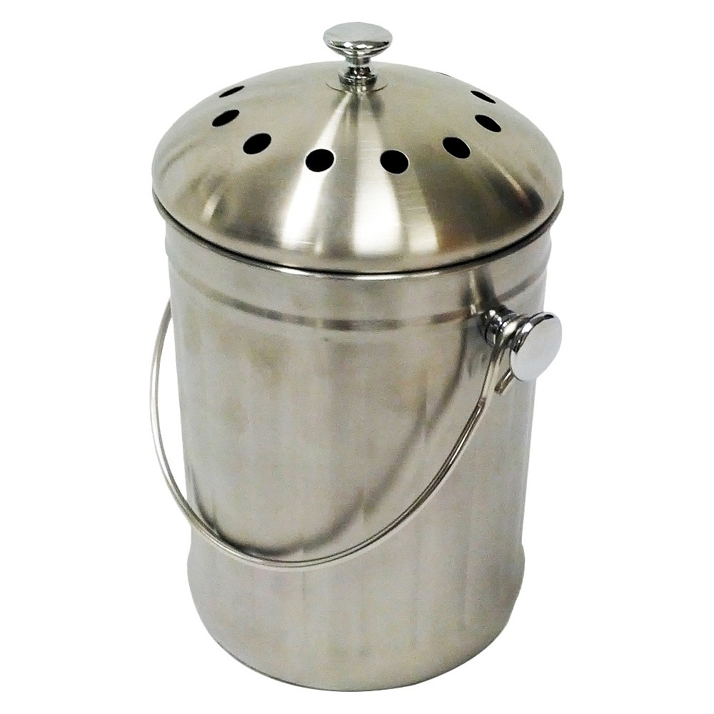 Compost Wizard Kitchen Accents - Stainless Steel Kitchen Composter