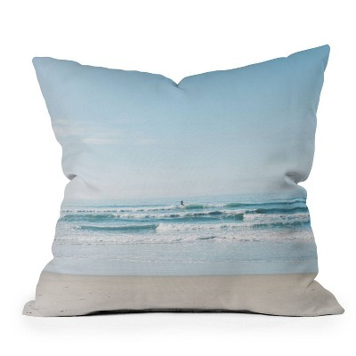 """16""""x16"""" Bethany Young Photography California Surfing Square Throw Pillow - Deny Designs"""