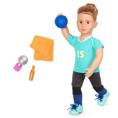 "Our Generation Posable 18"" Boy Doll Volleyball Player - Johnny"