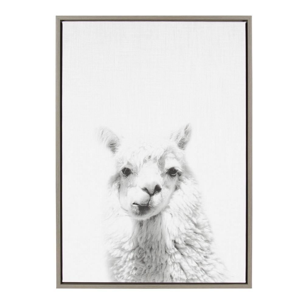 23 34 X 33 34 Sylvie Alpaca Framed Canvas By Simon Te Tai Gray Kate And Laurel