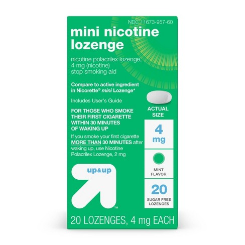 Nicotine 4mg Mini Lozenge Stop Smoking Aid - Mint - Up&Up™ - image 1 of 4