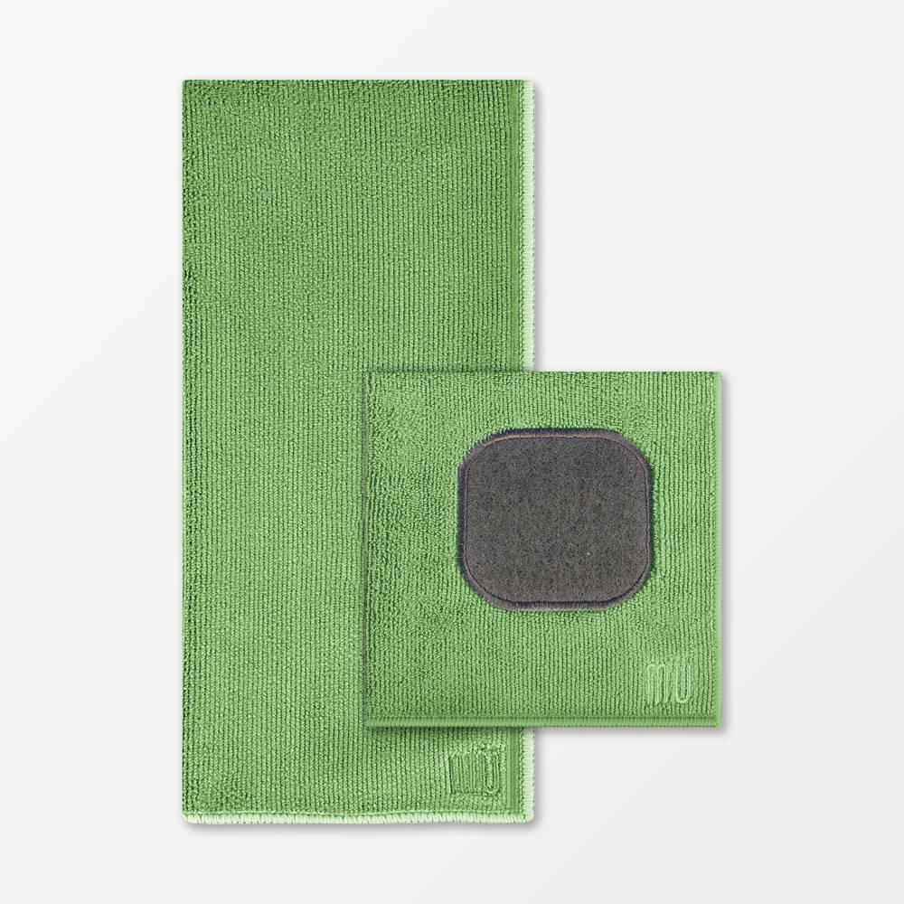 Image of 2pk Microfiber Cloth & Towel Green - MU Kitchen