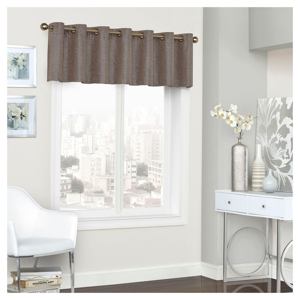 "Presto Thermalined Window Valance Brown (52""x18"") - Eclipse"