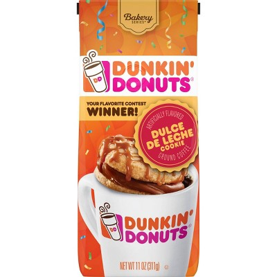 Dunkin' Donuts Dulce De Leche Cookie Medium Roast Ground Coffee - 11oz