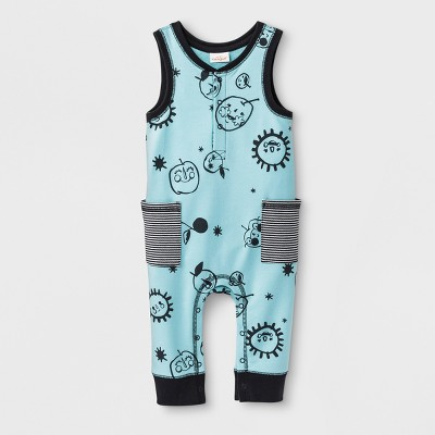 Baby Boys' Sleeveless Romper - Cat & Jack™ Blue 0-3M