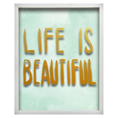 Life is Beautiful Screen Printed Glass Art - Pillowfort™