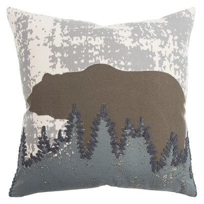 Throw Pillow Rizzy Home Beige Brown