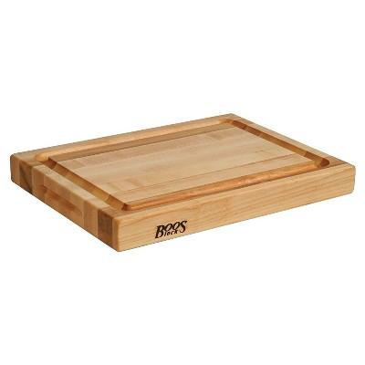 John Boos Maple Wood Edge Grain Reversible Cutting Board, 20 x 15 x 2.25 Inches