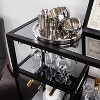 Zephs Bar Cart with Smoked Mirror - Holly & Martin - image 2 of 4