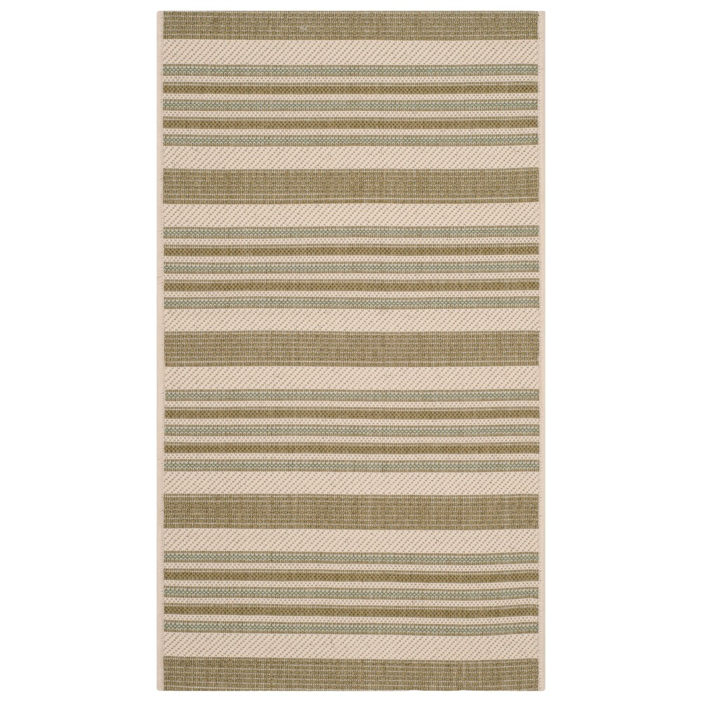 Narbonne Rectangle 2'X3'7 Patio Rug - Beige/Green - Safavieh