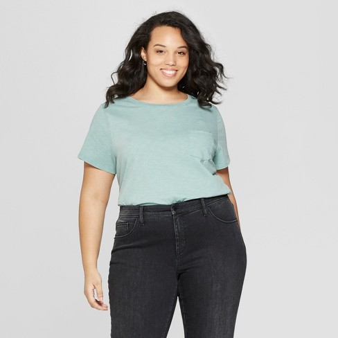 Women's Plus Size Meriwether Crew Neck Short Sleeve T-Shirt - Universal Thread™ - image 1 of 3