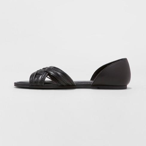 9c7b90f189ce2 Women s Vail Open Toe Huarache Sandals - Universal Thread™ Black 5.5    Target