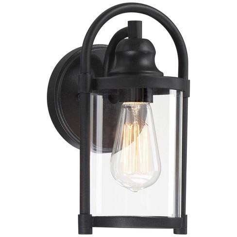 Modern Outdoor Wall Light Fixture Black