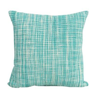"carol & frank 20"" x 20"" Thatcher Lagoon Woven Pillow"