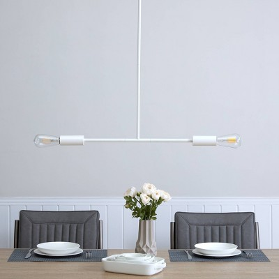 "52"" Kelvingston Island Pendant Lamp White - Aiden Lane"