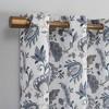 Emiko Vintage Scroll Floral Semi-Sheer Grommet Curtain Panel Purple - No.918 - image 2 of 4