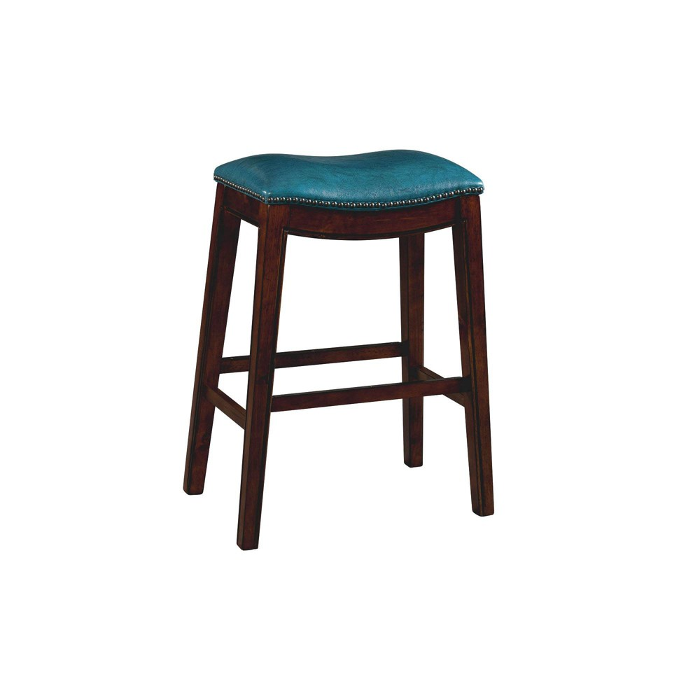 Image of 1pc Bowen Backless Bar Stool Blue - Picket House Furnishings