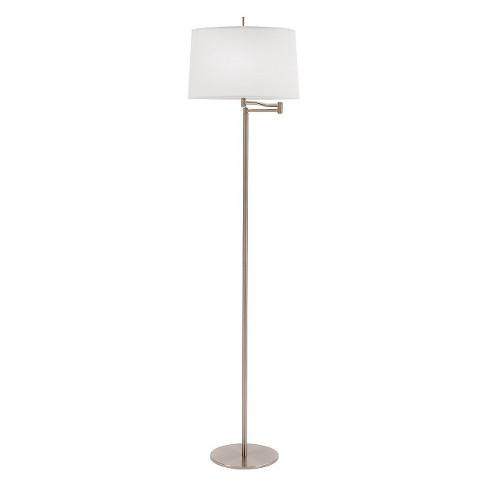 "62"" 3-way Metal Swing Arm Floor Lamp Brushed Steel - Fangio Lighting - image 1 of 1"