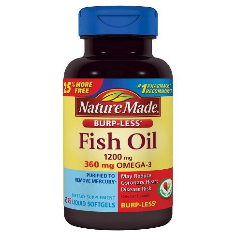 Nature Made Mg Fish Oil Burp Less