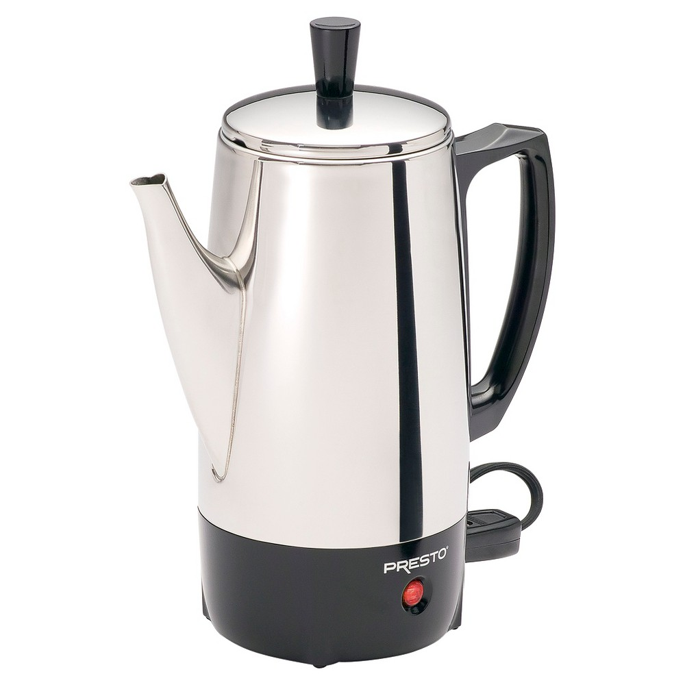 Presto Electric Coffee Percolator- 02822, Silver 16793704