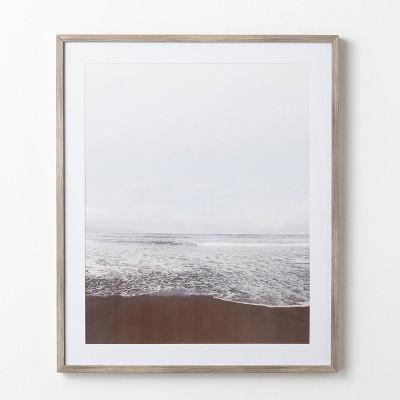 "30"" x 36"" Serene Beach Framed Under Glass - Threshold™ designed with Studio McGee"