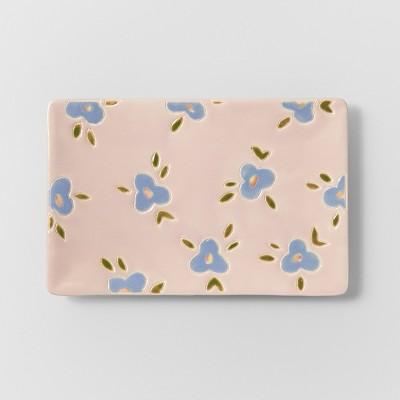 9  x 5.9  Floral Trinket Tray Pink/Blue - Opalhouse™